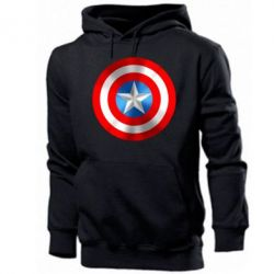 Мужская толстовка Captain America 3D Shield - FatLine