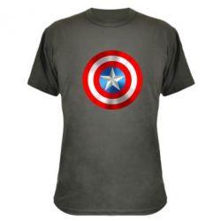 Камуфляжная футболка Captain America 3D Shield - FatLine