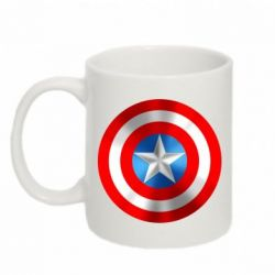 Кружка 320ml Captain America 3D Shield - FatLine