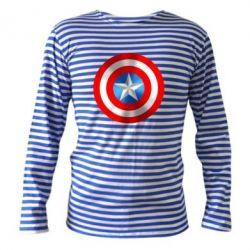 Тельняшка с длинным рукавом Captain America 3D Shield - FatLine