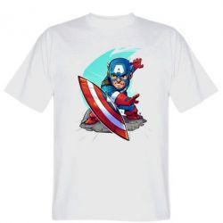 Мужская футболка Cartoon Captain America - FatLine