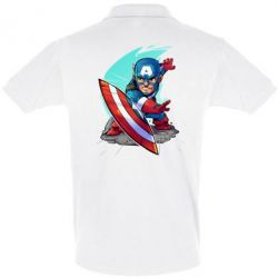 Футболка Поло Cartoon Captain America - FatLine