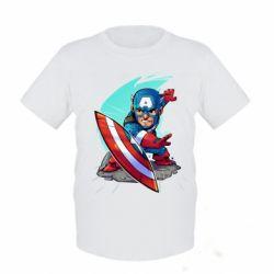 Детская футболка Cartoon Captain America - FatLine