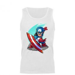 Мужская майка Cartoon Captain America - FatLine