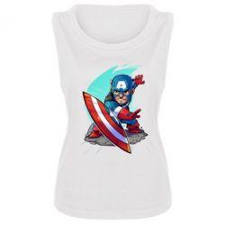 Женская майка Cartoon Captain America - FatLine
