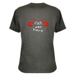 Камуфляжная футболка Cas was here - FatLine