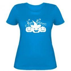 Женская футболка Cчастливого Хэллоуина - FatLine