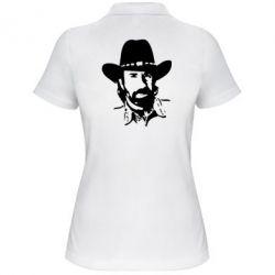 Женская футболка поло Чак Норис - FatLine