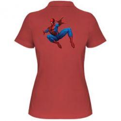 Женская футболка поло Человек Паук - FatLine