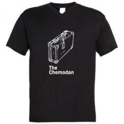 Мужская футболка  с V-образным вырезом Чемодан Logo - FatLine