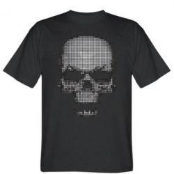 Мужская футболка Череп из пикселей - FatLine