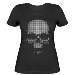 Женская футболка Череп из пикселей - FatLine