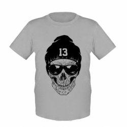 Детская футболка Череп в шапке - FatLine