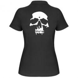 Женская футболка поло Череп - FatLine