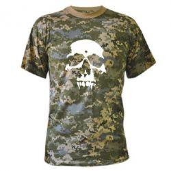 Камуфляжная футболка Череп - FatLine