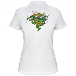 Женская футболка поло Черепашки-ниндзя - FatLine