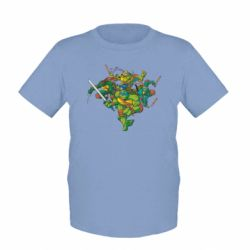 Детская футболка Черепашки-ниндзя - FatLine