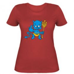 Женская футболка Чертик з трезубом - FatLine