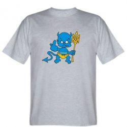 Мужская футболка Чертик з трезубом - FatLine