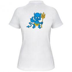 Женская футболка поло Чертик з трезубом - FatLine
