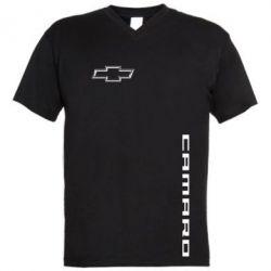Мужская футболка  с V-образным вырезом Chevrolet Camaro - FatLine