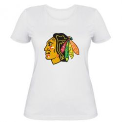 Женская футболка Chicago Black Hawks - FatLine