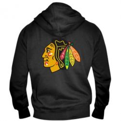 Мужская толстовка на молнии Chicago Black Hawks - FatLine