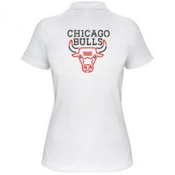 Женская футболка поло Chicago Bulls Logo - FatLine