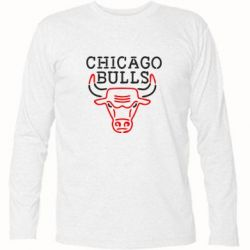 Футболка с длинным рукавом Chicago Bulls Logo - FatLine
