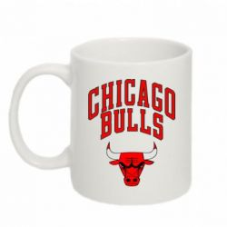 Кружка 320ml Chicago Bulls с надписью - FatLine