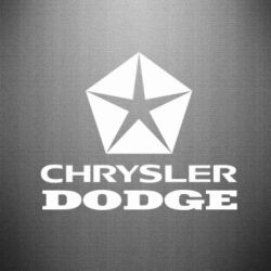 Наклейка Chrysler Dodge