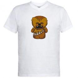 Мужская футболка  с V-образным вырезом Чубакка - FatLine