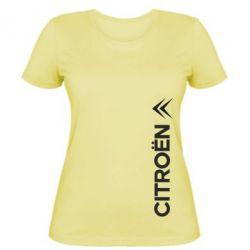 Женская футболка Citroen Vert - FatLine