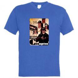 Мужская футболка  с V-образным вырезом Compton's NWA - FatLine