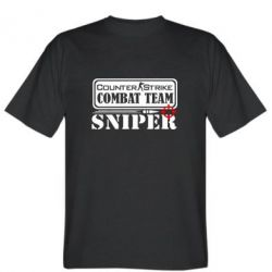 Мужская футболка Counter Strike Combat Team Sniper - FatLine