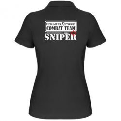 Женская футболка поло Counter Strike Combat Team Sniper - FatLine