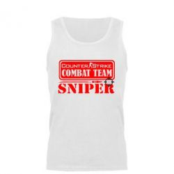 Мужская майка Counter Strike Combat Team Sniper