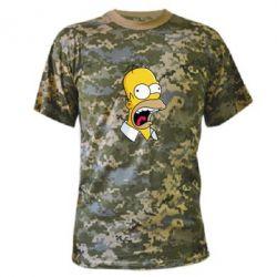 Камуфляжная футболка Crazy Homer! - FatLine