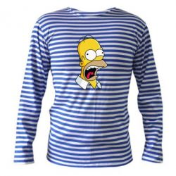 Тельняшка с длинным рукавом Crazy Homer! - FatLine