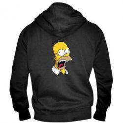 Мужская толстовка на молнии Crazy Homer! - FatLine