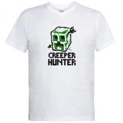 Мужская футболка  с V-образным вырезом Creeper Hunter - FatLine