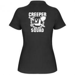 Женская футболка поло Creeper Squad - FatLine