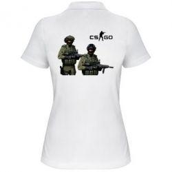 Женская футболка поло CS GO - FatLine