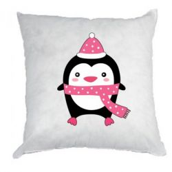 Подушка Cute Christmas penguin - FatLine