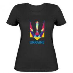 Женская футболка Цветной герб - FatLine