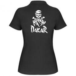 Женская футболка поло DAKAR LOGO - FatLine
