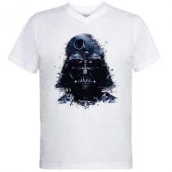Мужская футболка  с V-образным вырезом Darth Vader Space - FatLine