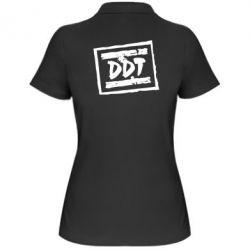 Женская футболка поло DDT (ДДТ) - FatLine