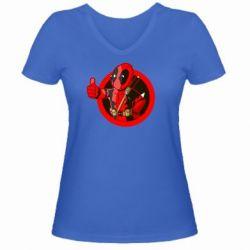 Женская футболка с V-образным вырезом Deadpool Fallout Boy - FatLine