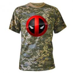 Камуфляжная футболка Deadpool Logo - FatLine